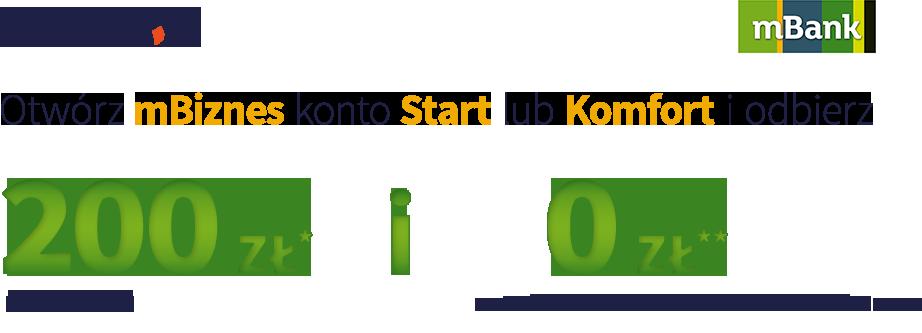 Konto dla firm w mBanku z premią 200 zł